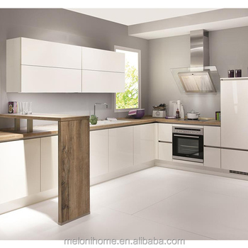 Simple L Shape With Invisible Handle Marble Top Kitchen Cabinet Buy Marble Top Kitchen Cabinet Kitchen Designs Layouts Kitchen Design Philippines
