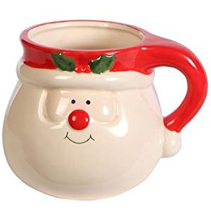 get quotations royal norfolk dolomite christmas character mugs 15 oz christmas character 3 santa