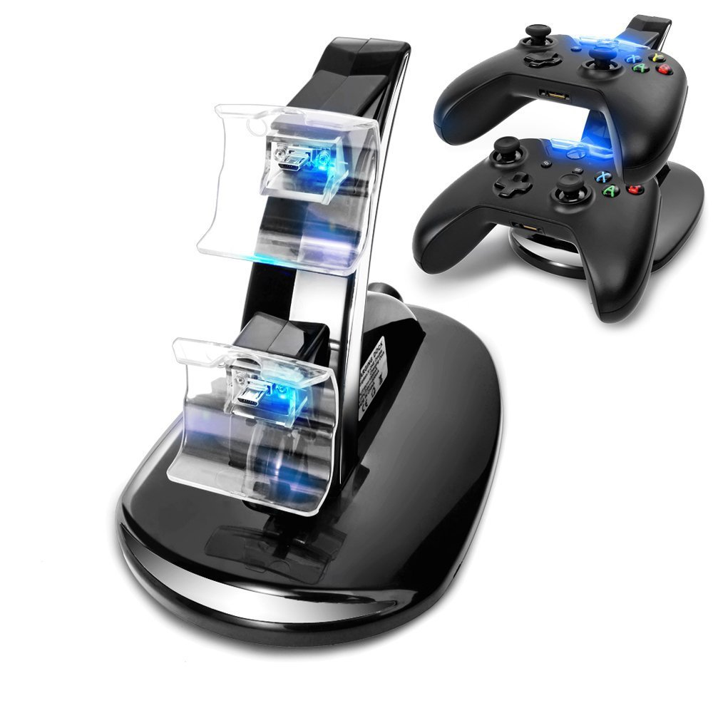 2015 NEW led USB Fast Charging Adapter Stand Dock Station for Dual Xbox One Game Controller