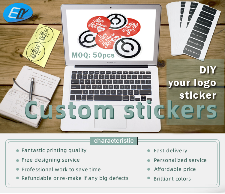 stickers wholesale adhesive glossy matte removeable waterproof reflective sticker