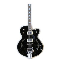 Weifang Rebon hollowbody bigsby jazz electric guitar with black colour