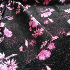 Direct sell print poly spun floral dress fabric for lady dress