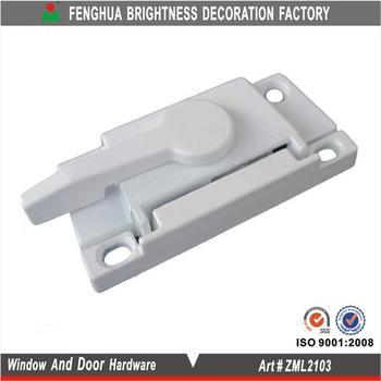 Zinc Alloy Lock For Aluminum Window Glass Reception