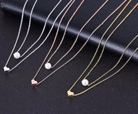 Hot Women Jewelry Products Necklace Pearl Fashionable Silver Heart Jewelry