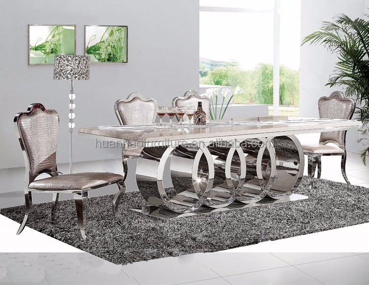 Dh 1405 New Model Modern Dining Table Home Furniture Set Product On Alibaba