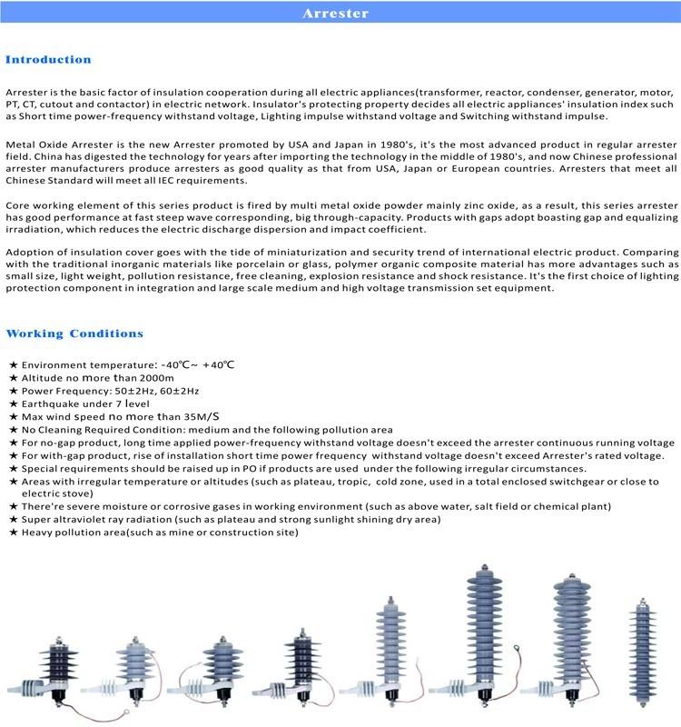 China Meto Electrical Supplier 72kv High Voltage Tvss Surge ...