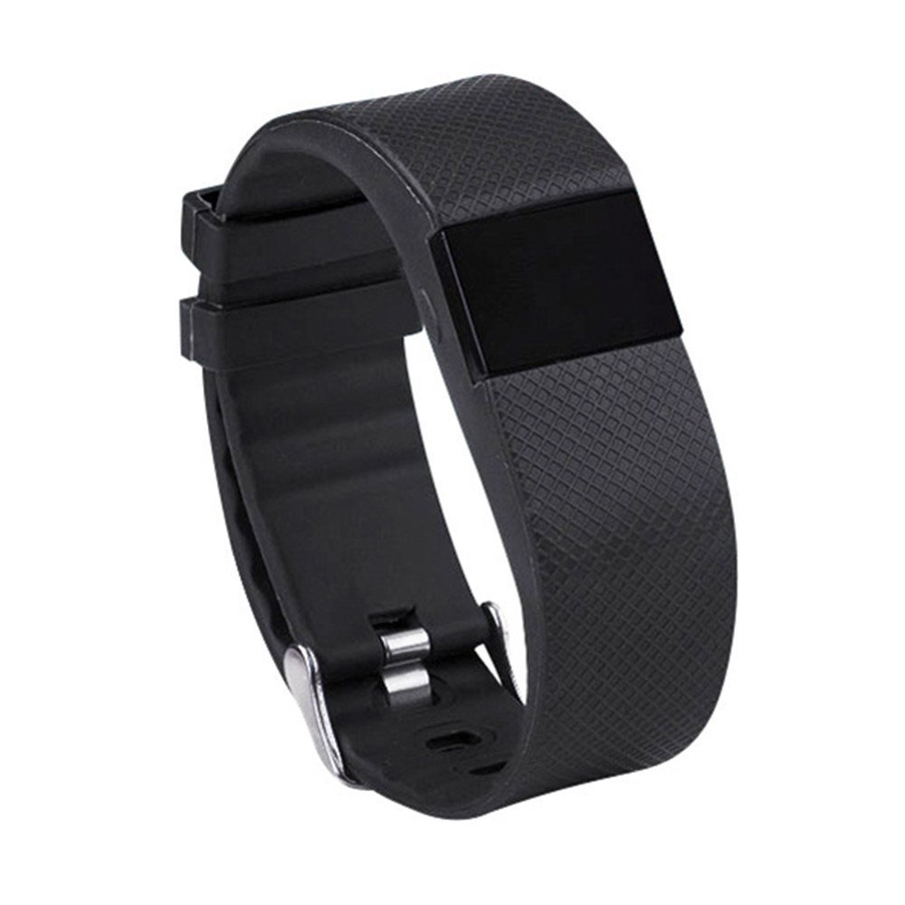 TW64S Heart Rate Monitor Smart Bracelet Sports Fitness Heart Monitor Bluetooth Smart Watch Selfie Photo Activity Tracker Healthy Wristband Pedometer Sleep Monitor For IOS Android Phones (Black)
