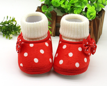 2018 lovely girl shoes super soft polka dot baby shoes