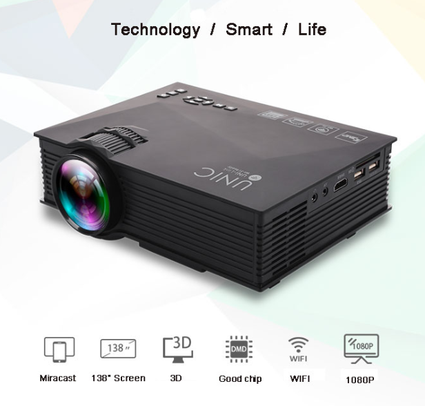 Factory UNIC 1200Lumens Cheap Mini Video Proyector 1200LM Brightness 800*480 Native Resolution video Projector UC46