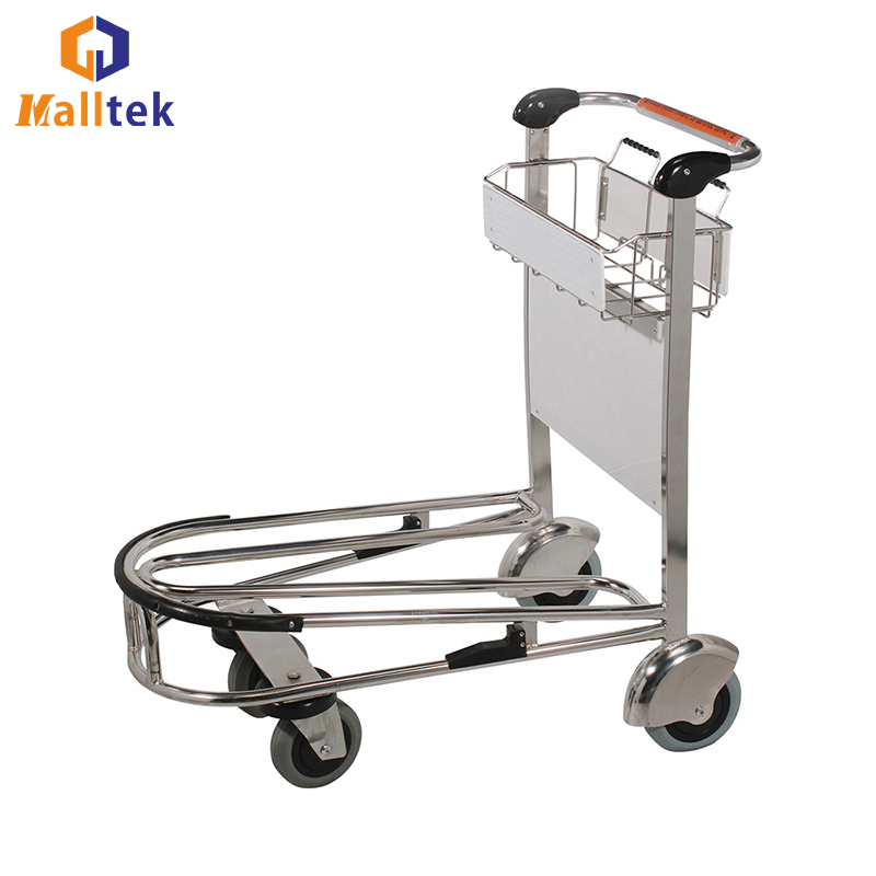 Popular Airport Passenger Stainless Steel Airport Luggage Baggage Trolley