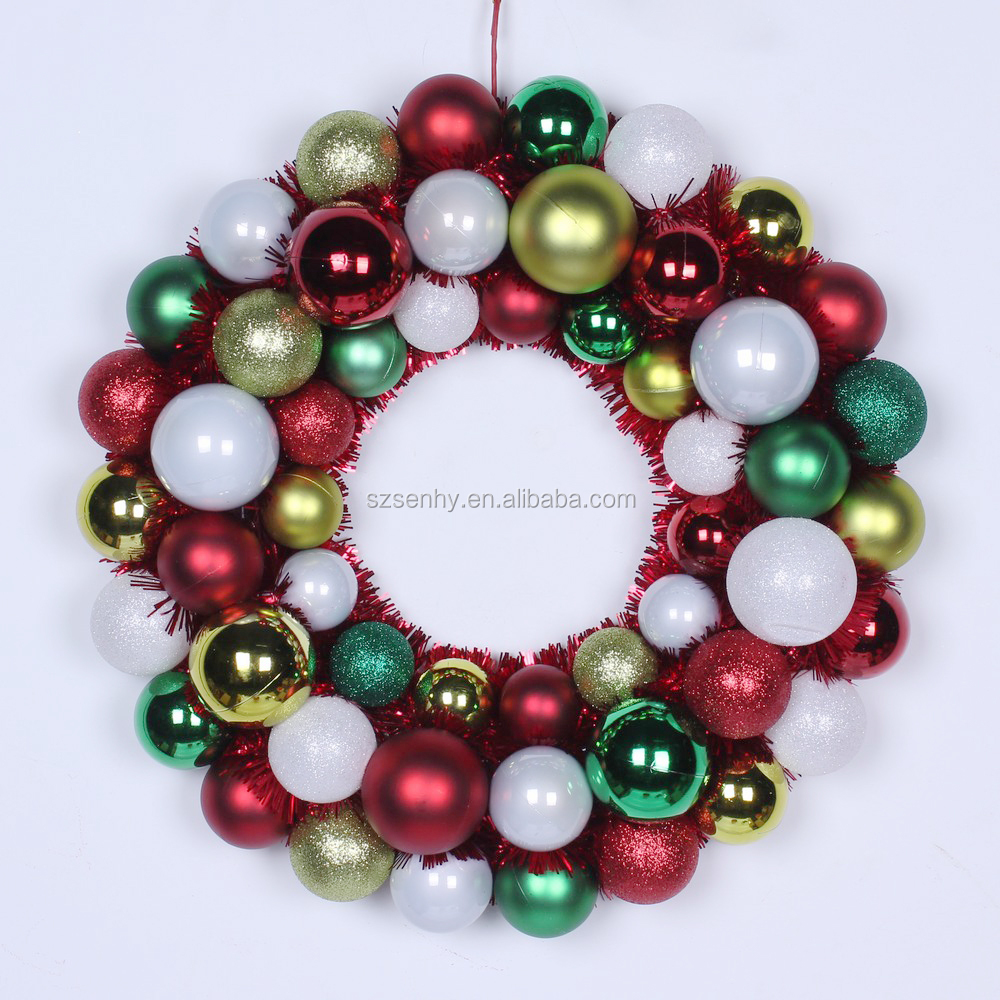 Pl stico bola de navidad guirnalda decoraci n de navidad - Guirnalda de navidad ...