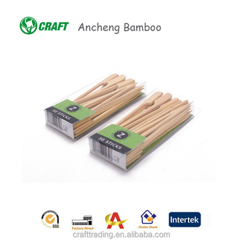 Flat teppo knot loop skewers shish kebab skewers bbq bamboo sticks