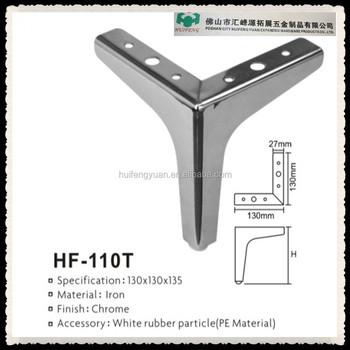 Furniture Leg Type Good Surface Treatment Stainless Steel Sofa Leg HF110T
