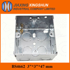 "HOT Square Galvanized steel 1 gang switch metallic 3""x3"" box box"