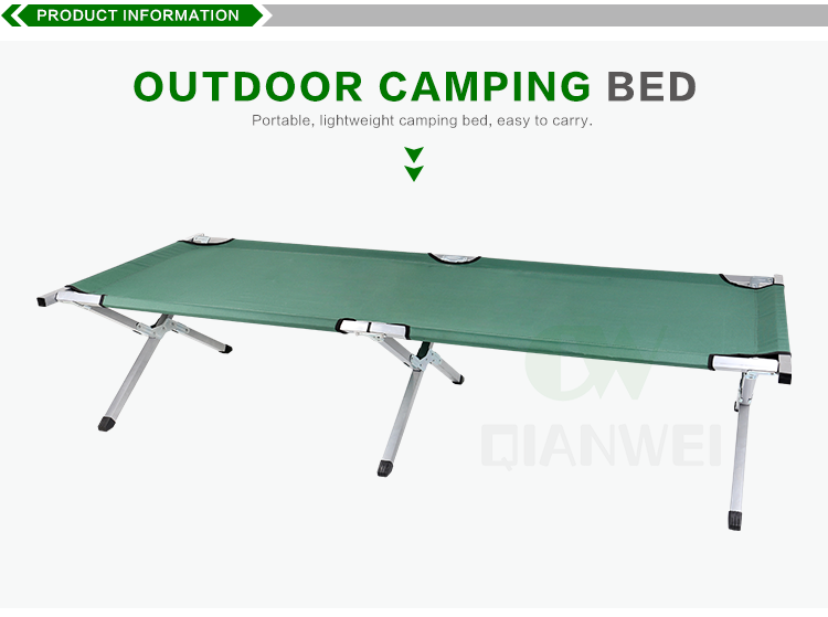 military portable army green aluminum folding camping bed adjustable travel sleeping camp cot