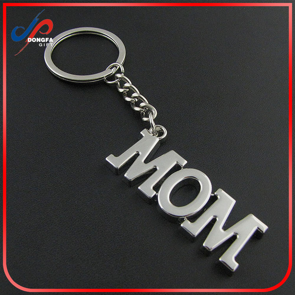 Antique Silver metal keychain Mom Pewter Style For Mother's Day Gifts Charm