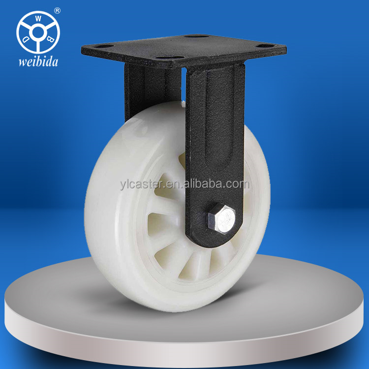 WBD top grade fixed heavy duty antistatic nylon caster wheel only