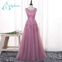 Custom Made Plus Size Scoop Sashes Appliques Beaded Prom Dress
