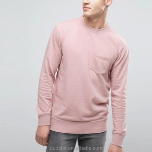 man apparel wholesale cable knit brushed cotton plain sweatshirts without hood customized for men