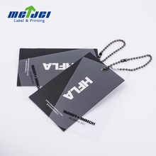 China Maker Custom Plastic And Cardboard Kraft Paper Printing Hang Tags For Clothing