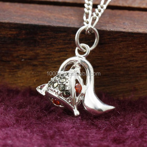 Charming Fox Pendant, 925 Antique Silver Marcasite Jewelry Wholesale