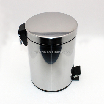 Stainless Steel Trash Can Step Trash And Recycling Bin For Kitchen Bathroom And Office Buy Stainless Steel Foot Pedal Waste Bin Commercial