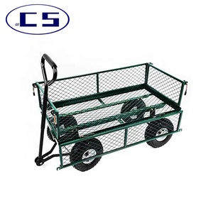 High quality 400 lbs decorative wheelbarrow garden wire mesh garden wagon cart