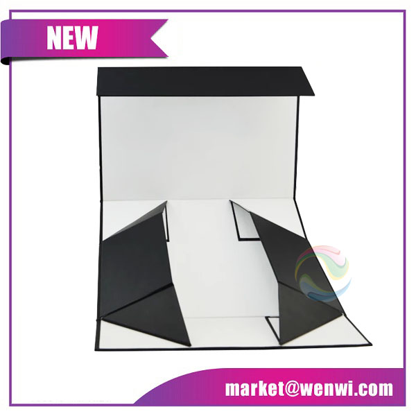 Shenzhen Black Printing Retail Small Gift Paper Cardboard Hair Extension Luxury Design Custom Logo Packaging Box