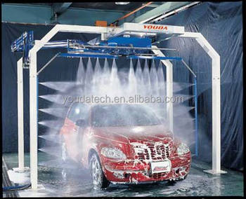 Automatic High Pressure Water Jet Car Washing Machine With Two Arms 60 Seconds Wash