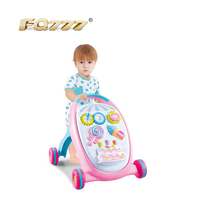 wholesale cheap safe 3 in 1 round plastic electric walker baby