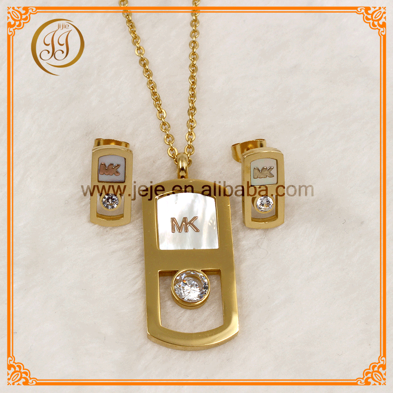 Women Fashion Accessories Cubic Zirconia African Jewelry Sets Gold Plated