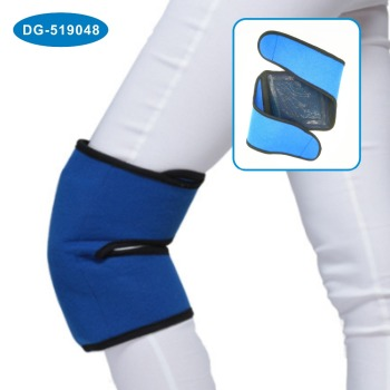 Wearable Hot and Cold Therapy Gel Knee Wrap with Reusable Oversized large Ice Pack for Sport Injuries Swelling and Muscle Pain
