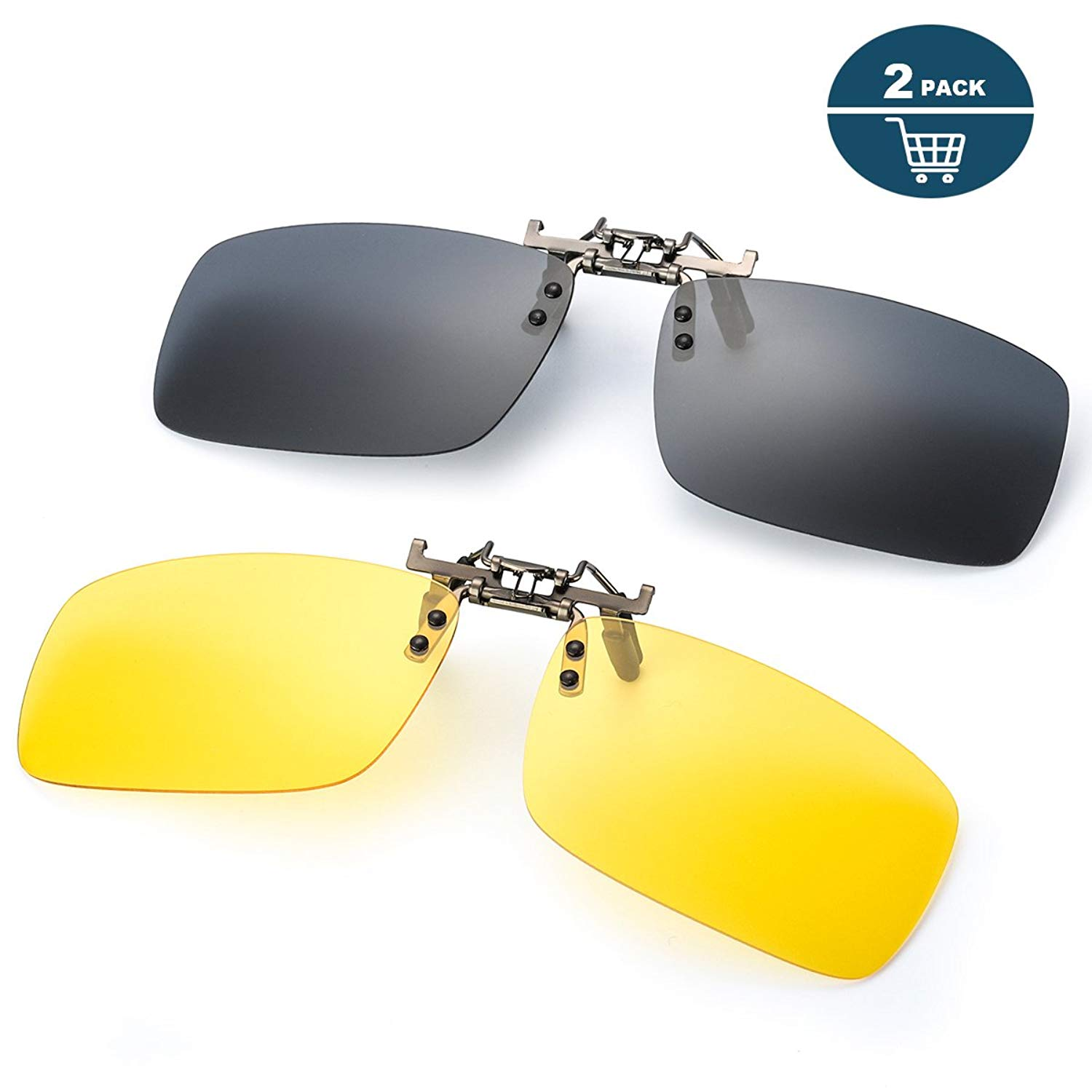1c40a26fd35 Get Quotations · Clip on Sunglasses for Prescription Glasses