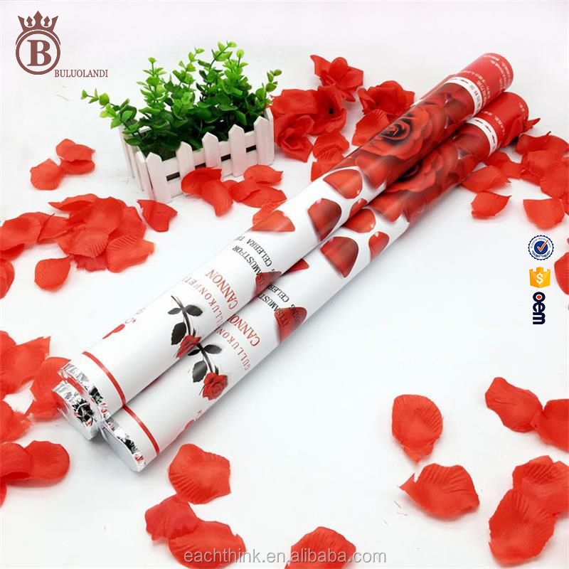 40 60cm Wedding Festval Party Popper Firework Confetti Cannon with Rose Petal