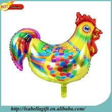 Chinese style new year cock shape helium foil balloon for spring festival