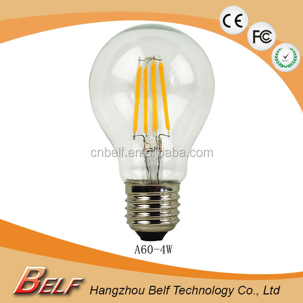Quality Level a60 led filament light bulb <strong>e27</strong> with IC constant current driver