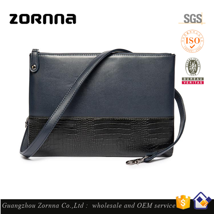 Fashion Men Synthetic Leather Crocodile PU Man Bag Prices For Making Handbags from Thailand