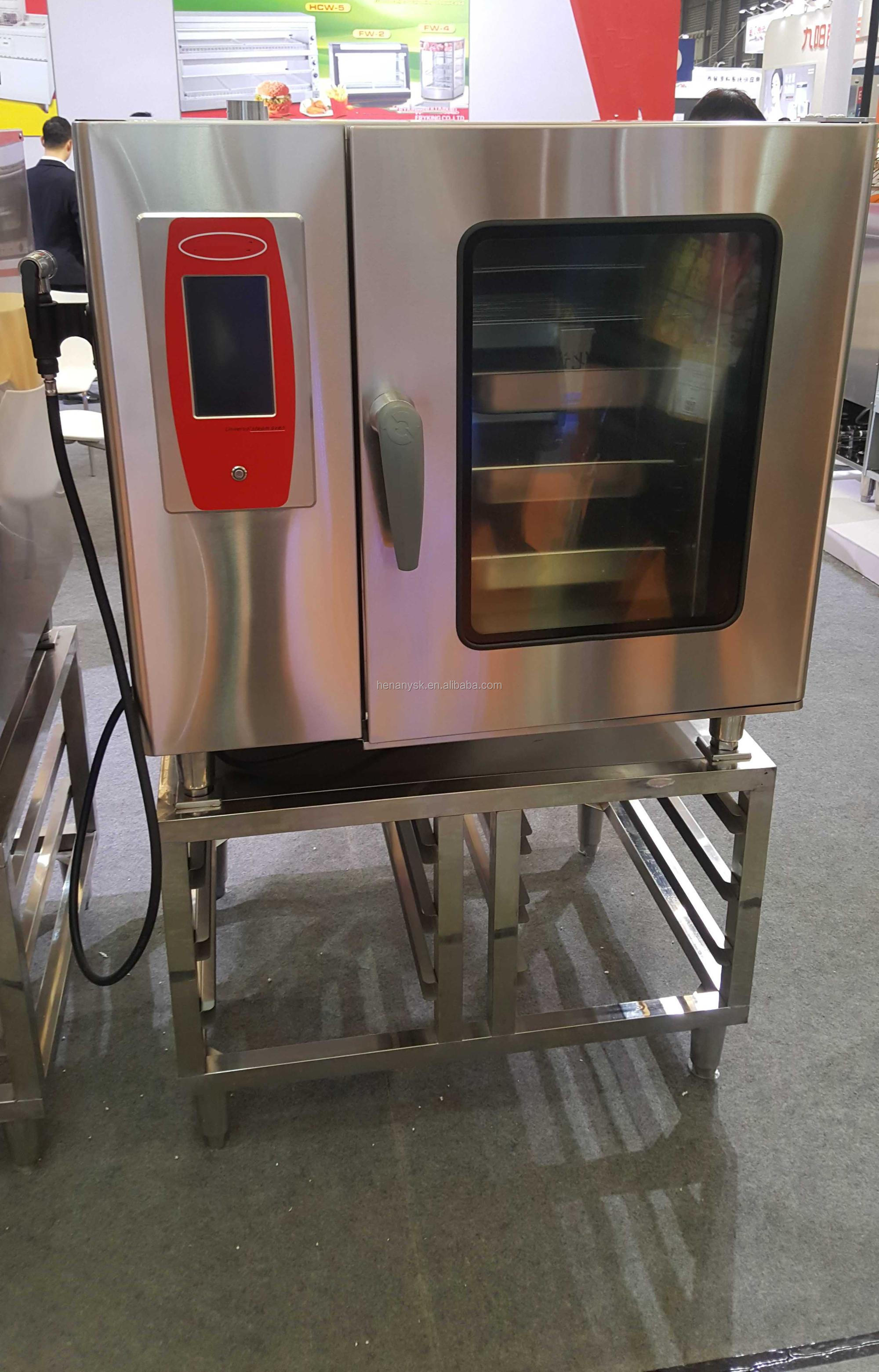 5 Trays Rational Electric Commercial Industry Use Combi Steam Oven Pizza Deck Oven