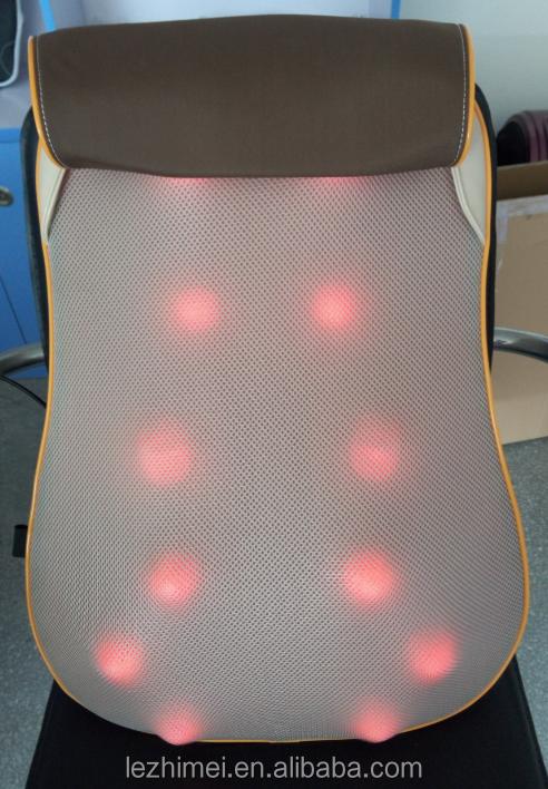 Lm 705 3d infrarood shiatsu massage kussen massager for Shiatsu massage kussen