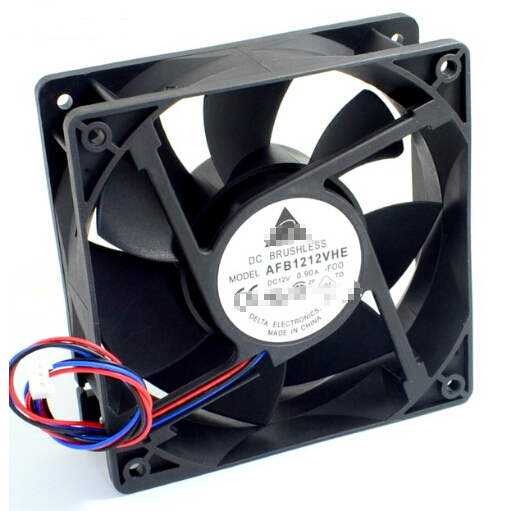 AFB1212VHE -F00 signal 120mm 12cm DC 12V 0.90A 3-pin server inverter axial blower cooler cooling fan