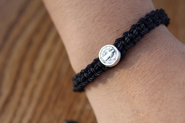Red bracelet,red saint Benedict bracelet, black Saint Benedict bracelet.Pulsera de San Benito,baby bracelet,saint bracelet,