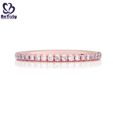 Wholesale aaa cz couple 18k rose gold napkin ring