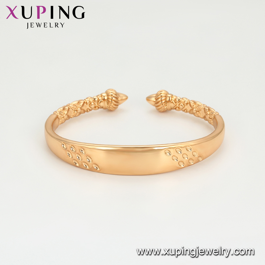 52135 Xuping Jewelry gold plated classic style fashion cuff bangle for women