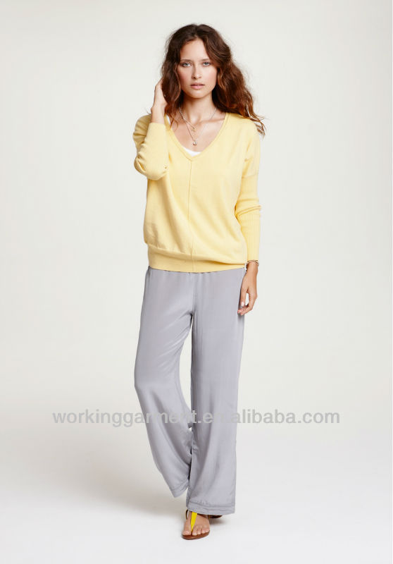 New Factory OEM Women Leisure Style Silk Lounge Sleep Pants