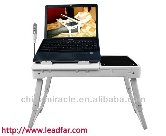folding lap desk with light