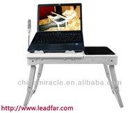 folding lap desk with light