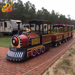 Hot sale classical train amusement parks rides 24P trackless electric tourist train for sale