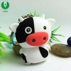 Promotion Animal Cow Shape Led Voice Keyring for Gift