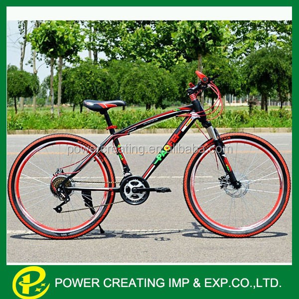 Colourful tires factory supplying cheap carbon steel mountain bike 26'' mountain bicycle