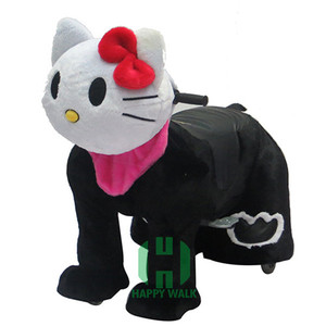 HI amusement electric scooter, high quality hello kitty plush riding toys